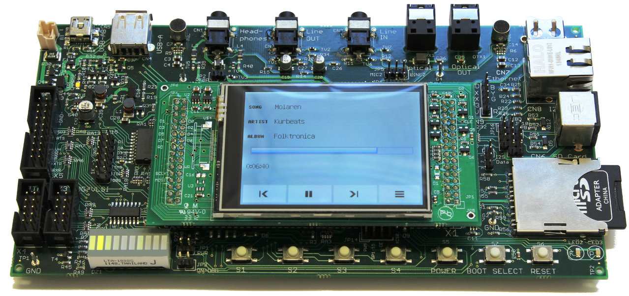 VS1005 Family Developer Board with LCD