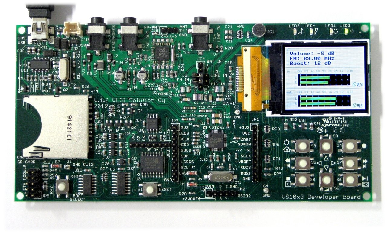 VS1053 Developer Board, Audio device