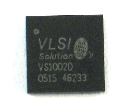 VS1002D-B, mp3/wma audio decoder circuit.