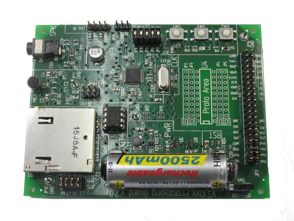 VS1053B-L Prototyping Board, Audio device