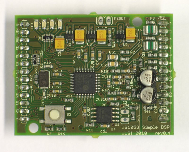 VS8053 Simple DSP Board, Audio processor